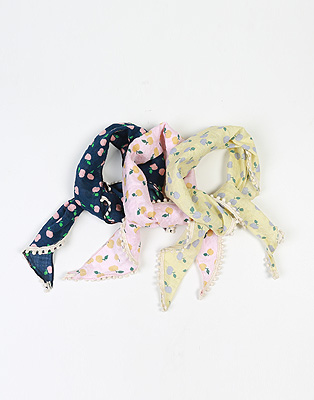 A. Fruit triangular scarf